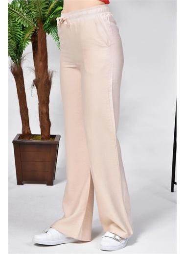 Rodi Jeans Kadın Airobinli Bol Paça Beli Lastikli Pantolon Rd21Yb011241 Bej